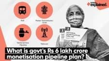 Explained- Govt's Rs 6 Lakh Crore National Monetisation Pipeline