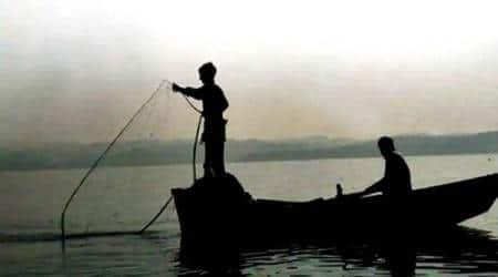 Devbhoomi Dwarka, fishermen, Gujarat, fishing season, south gujarat, Dwarka-okha highway, fishermen protest, indian express, indian express news, gujarat news