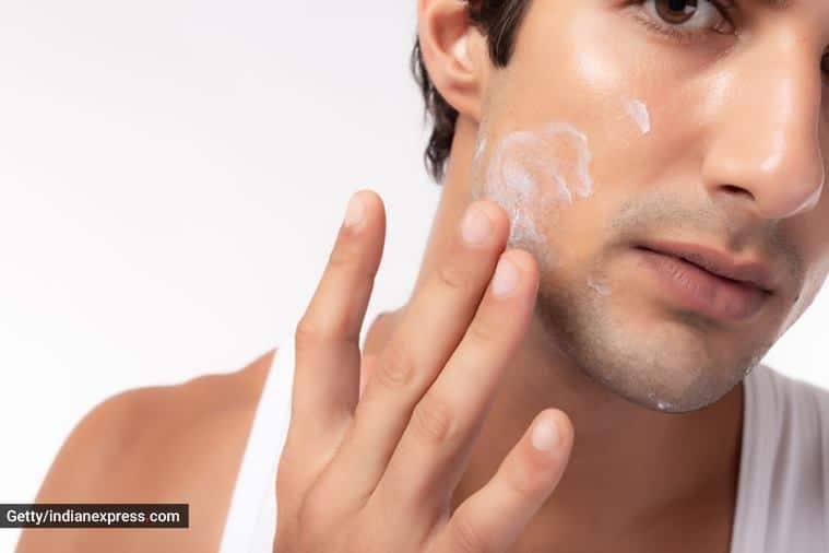skincare, skincare tips, skincare tips for men, men and skincare, monsoon skincare, monsoon skincare tips for men, how can men take care of their skin, indian express news