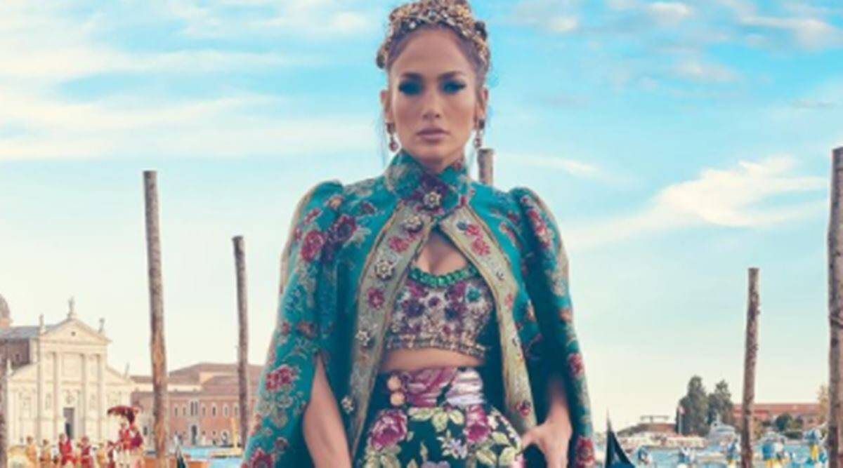 Dolce & Gabbana, Jennifer Lopez in Dolce & Gabbana, Jennifer Lopez fashion, Jennifer Lopez news, Jennifer Lopez and Ben Affleck, indian express news