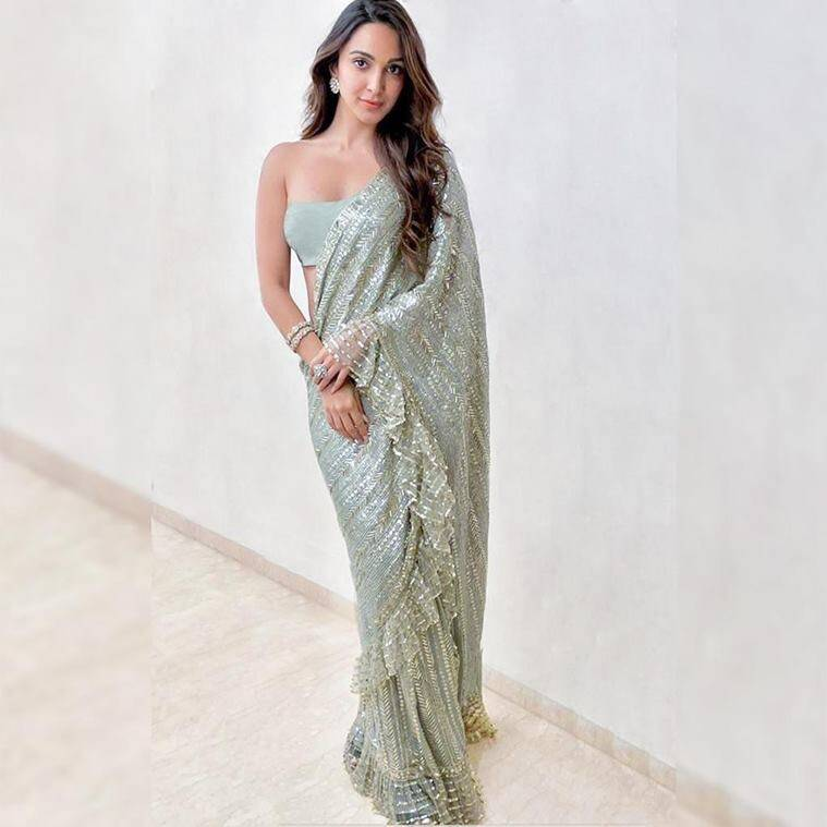 Kiara Advani, saree, fashion