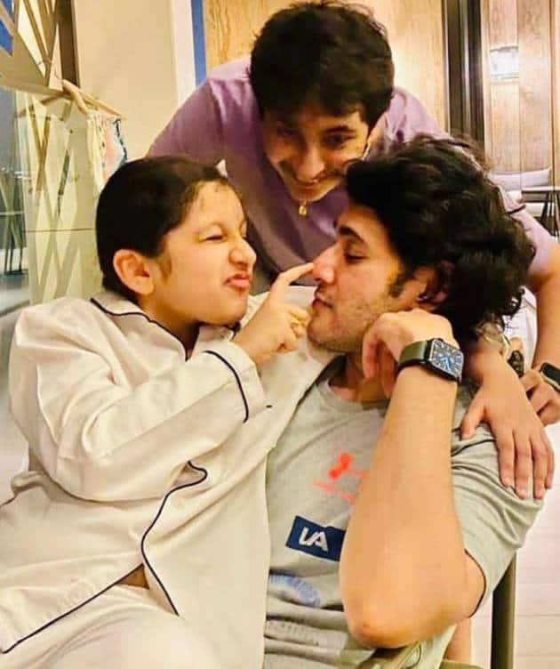 mahesh babu with kids