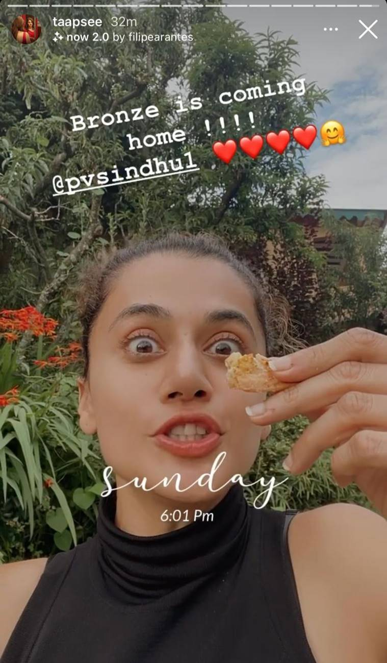 taapsee pannu on pv sindhu