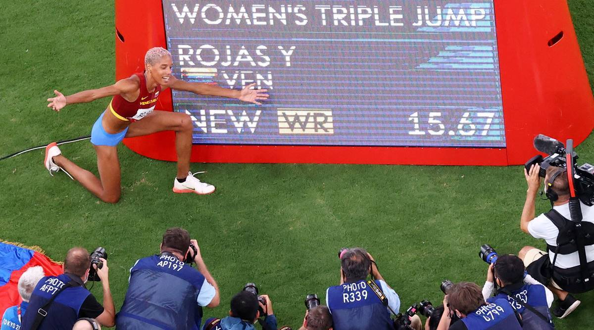Yulimar Rojas, Yulimar Rojas olympic record, Yulimar Rojas triple jump olympic record, Yulimar Rojas record time