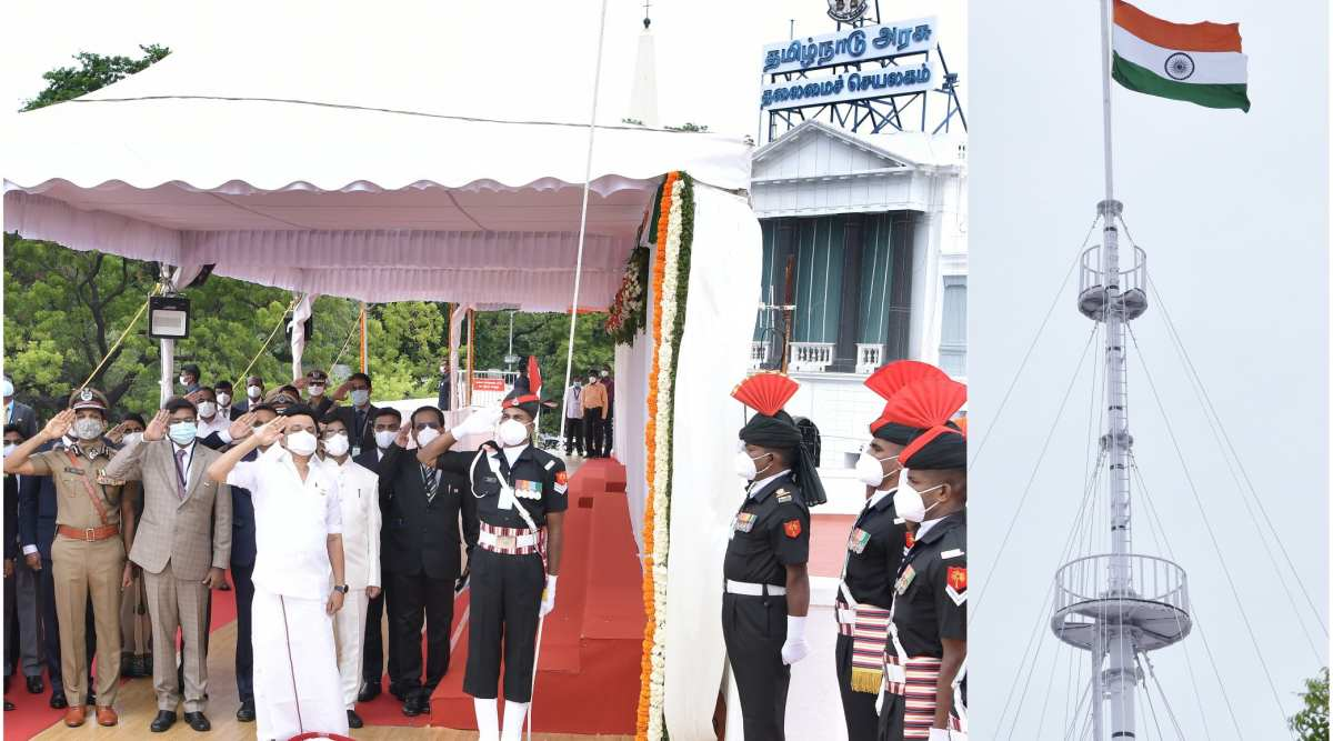 M K Stalin, Independence Day, Fort St George