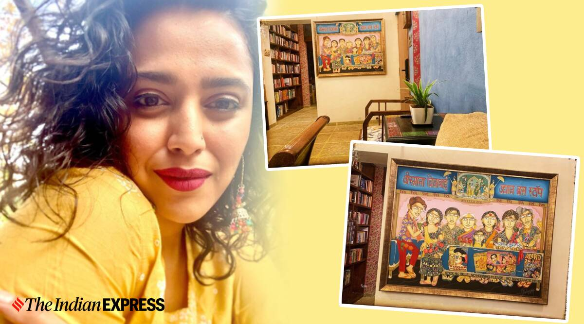 swara bhasker, swara bhasker nilofer suleman, nilofer suleman paintings, nilofer suleman artworks, indianexpress.com, indianexpress, nilofer suleman news, swara bhasker new house, art news,
