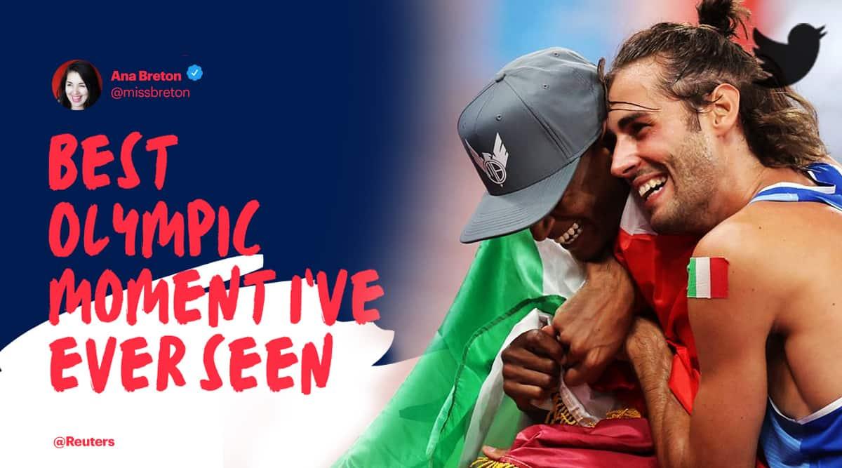 Gianmarco Tamberi, Mutaz Essa Barshim, tamberi barshim friendship, gianmarco tamberi tokyo olympics gold, mutaz essa barshim tokyo olympics gold, Trends, Indian Express trends, Indian Express