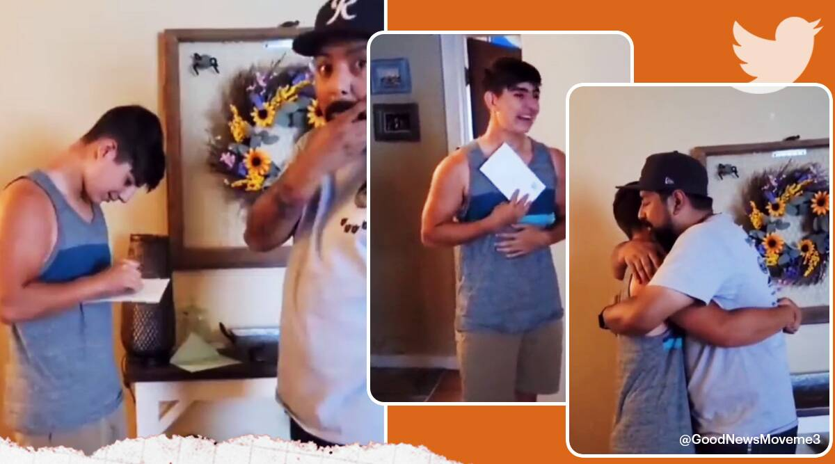 teen cries to find out he is going to be a brother, new born family reaction, big brother reaction, indian express trending, indian express