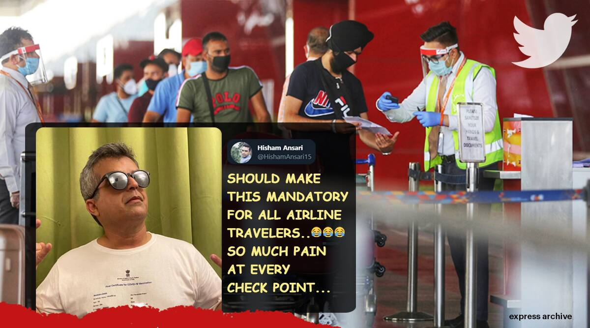 india vaccine certificate, vaccine certificate t shirt, atul khatri vaccine tee, vaccine passport, covid vaccine requirement for travel, covid protocols for travel in india, viral news, indian express