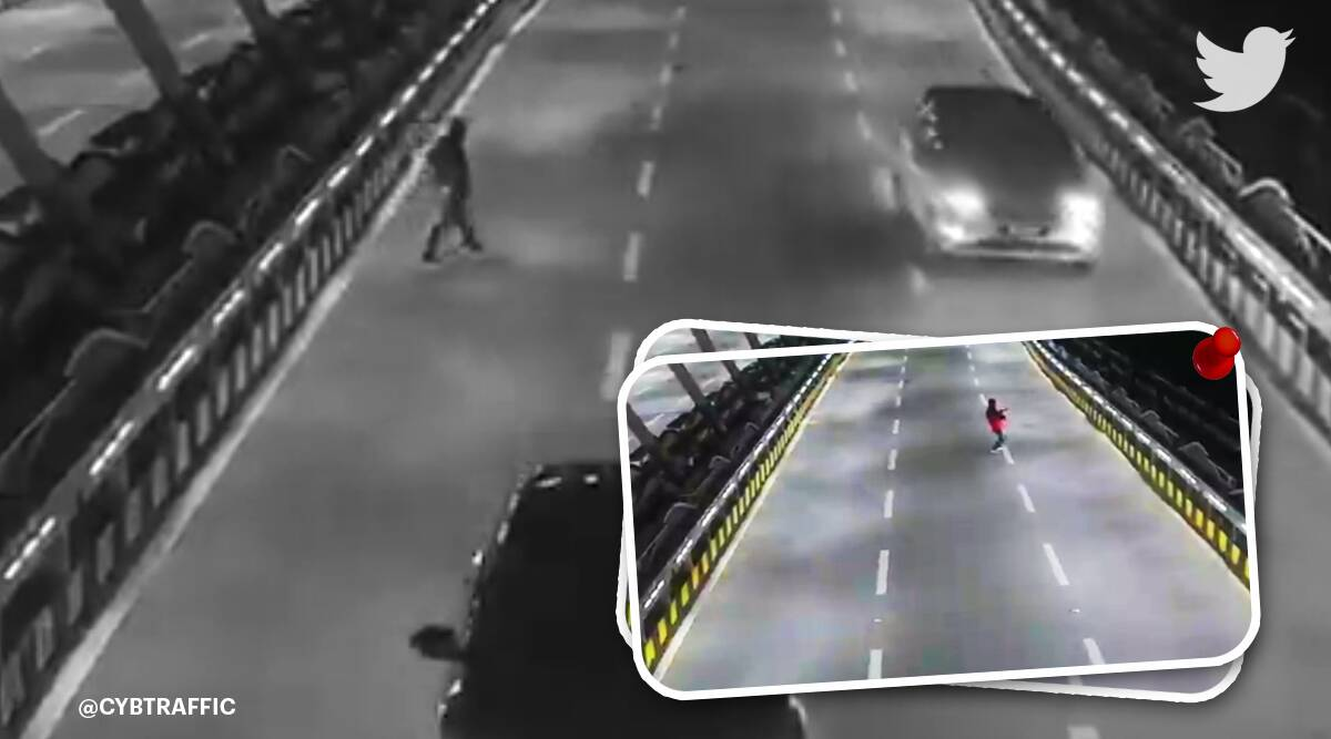 Cyberabad, Hyderabad, Cyberabad police, man running on the road, dancing man on the road, trending news, indian express trending, indian express