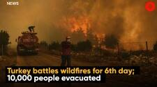 Turkey battles wildfires for the 6th day; 10,000 people evacuated