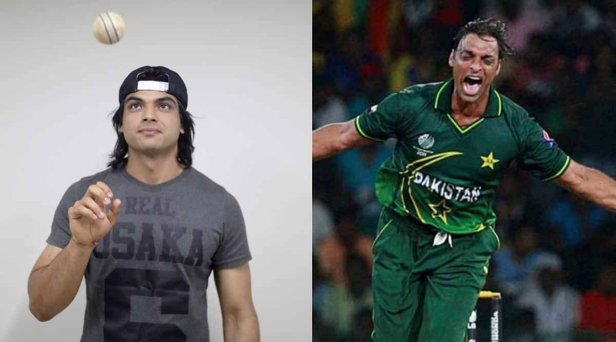 Neeraj Chopra and Shoaib Akhtar