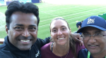 Sanjay Singh with Leander Paes.