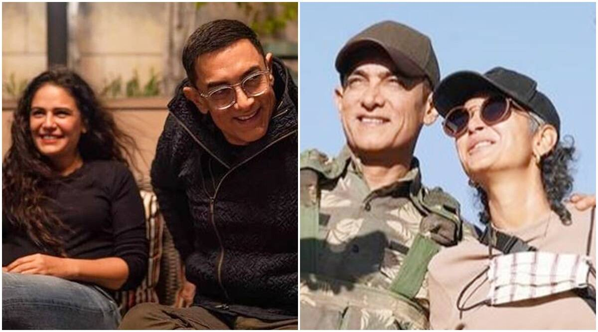 Aamir Khan and Kiran Rao pose with Mona Singh in unseen BTS pics from Laal Singh Chaddha, see here