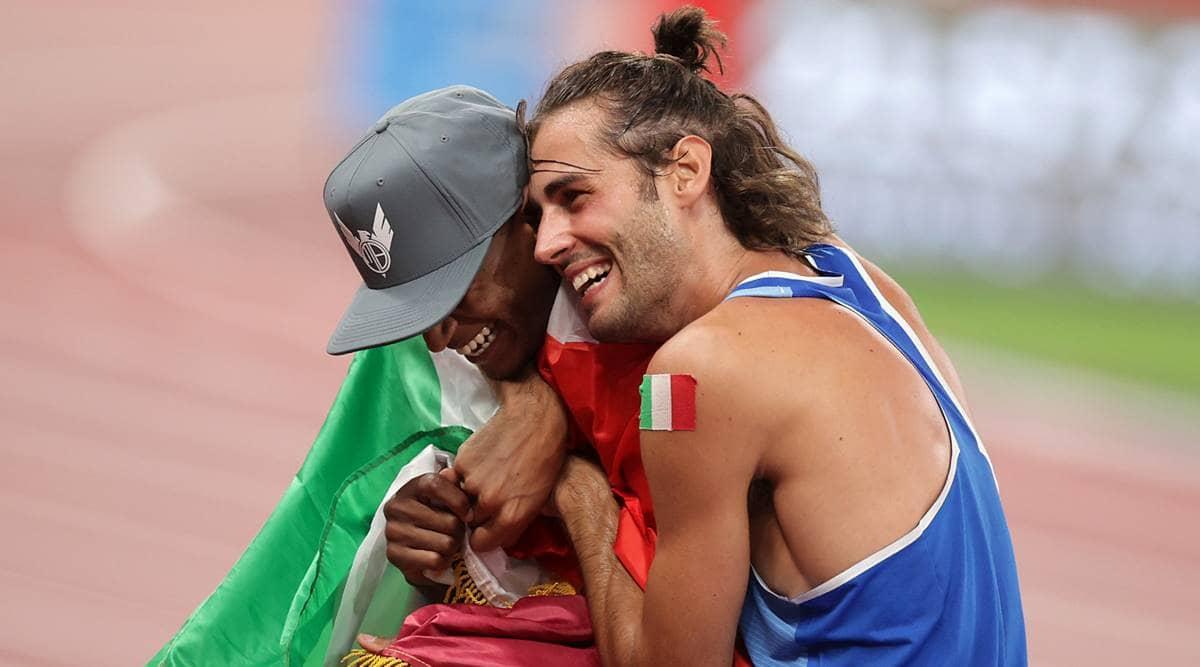 Gianmarco Tamberi, Mutaz Essa Barshim, tamberi barshim friendship, gianmarco tamberi tokyo olympics gold, mutaz essa barshim tokyo olympics gold