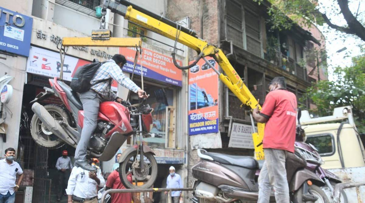 Pune: Video of motorcycle being towed along with rider goes viral