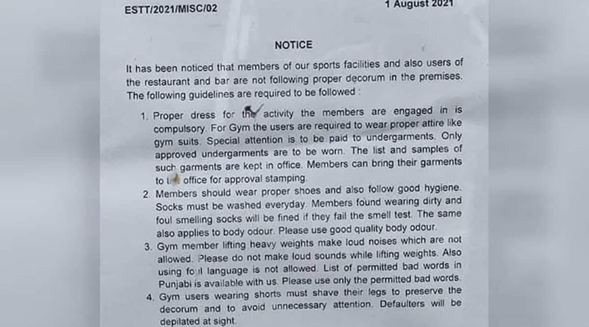 chandigarh lake club fake notice