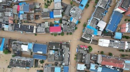 china floods, Liulin Township, Suixian County, Hubei province, heavy rains, world news, indian express news, indian express, news today