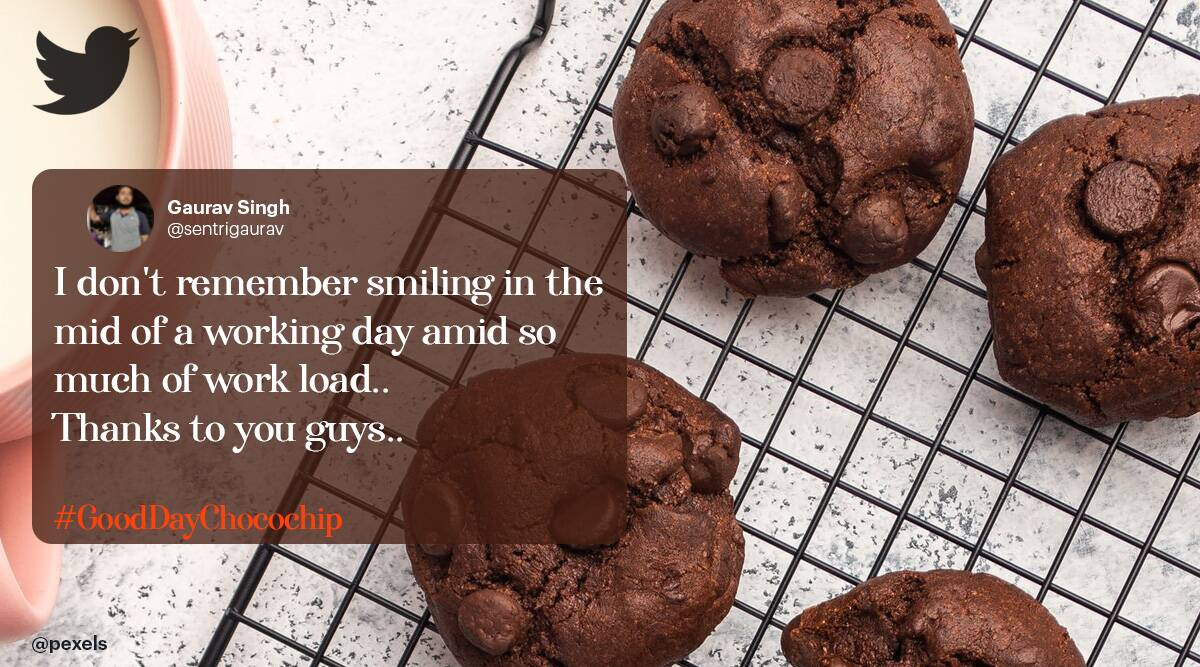 funny brand posts, Britannia biscuits banter on twitter, britannia chipping banter, popular brands viral banter, funny news, odd news, indian express
