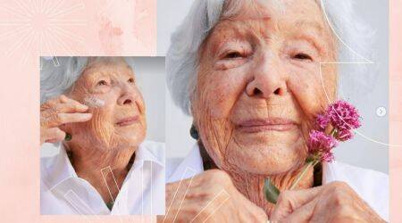 Woman becomes the new face of make up brand at 99, 99 year old becomes face of make up brand, trending, indian express, indian express news
