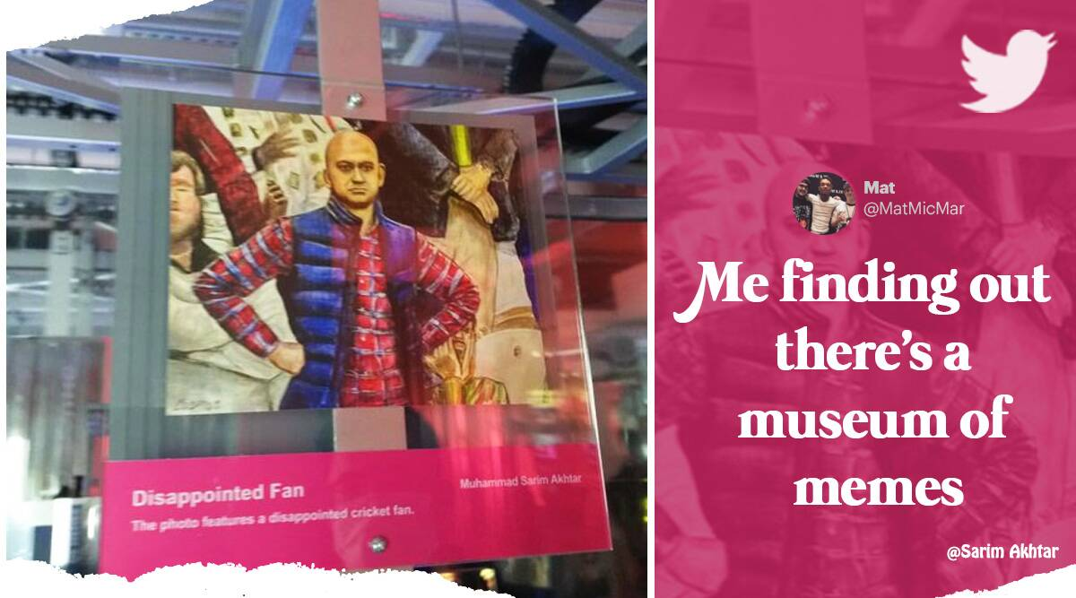 Disappointed Fan Hong Kong museum of memes, World Cup Pakistan Australia, Sarim Akhtar Disappointed Fan, twitter reactions, indian express, indian express news