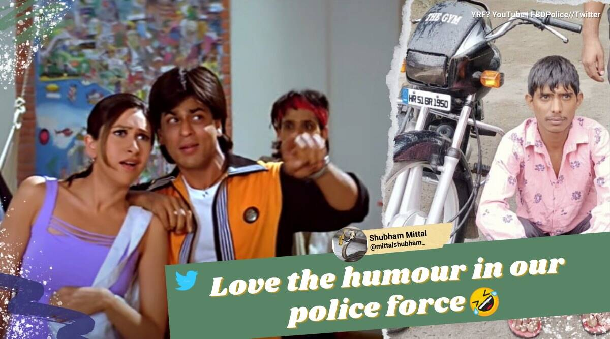 faridabad police, police humour, police funny tweets, police force wordplay, indian funny police twitter handles, viral news, indian express