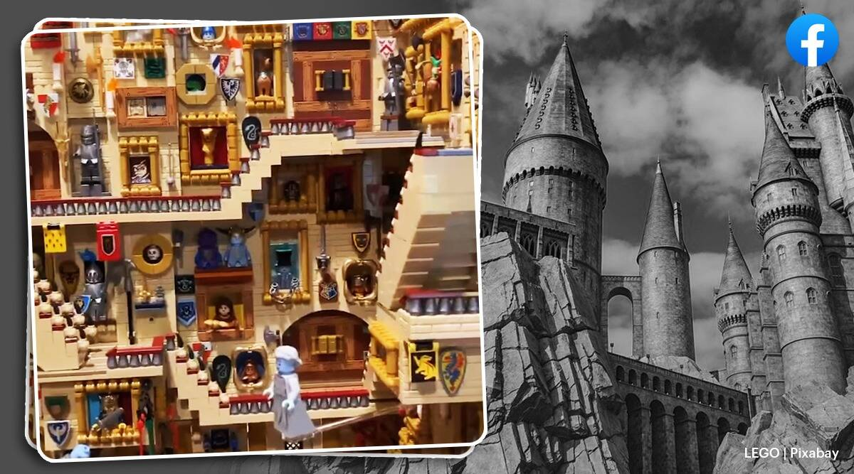 lego, harry potter lego viral video, harry potter themed lego set trending, lego, lego cost, trending, indian express, indian express news