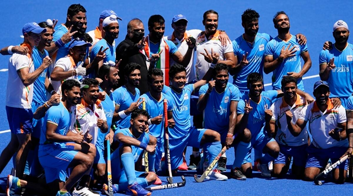 An emotional moment': India end Olympic medal drought in men's hockey |  Olympics News,The Indian Express