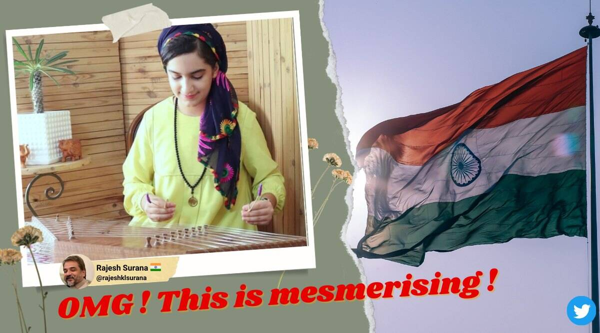 india independence day, india at 75, 75th india independence day, iranian girl jana gana mana, iran girl santor indian national anthem, viral videos, indian express