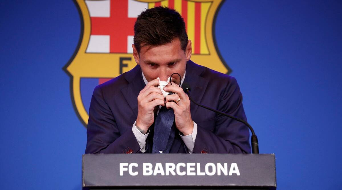 lionel messi, messi barcelona farewell, messi used tissue up for sale, $1 million messi used tissue, messi panuelo, viral news, odd news, indian express