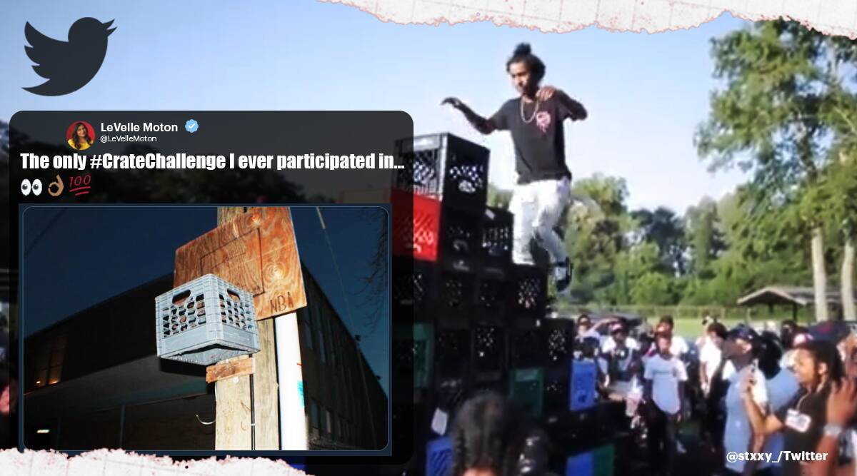 crate challenge, milk crate challenge, crate challenge videos, milk crate challenge fails, viral challenge, social media challenges, indian express