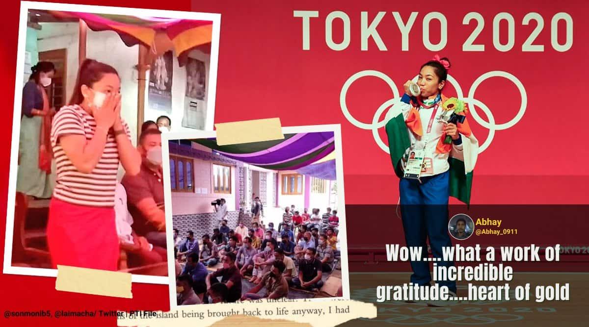 mirabai chanu, mirabai chanu rewards truck drivers who gave her lifts, tokyo olympics india medals, mirabai chanu thanks truck drivers for lifts, good news, viral news, indian express