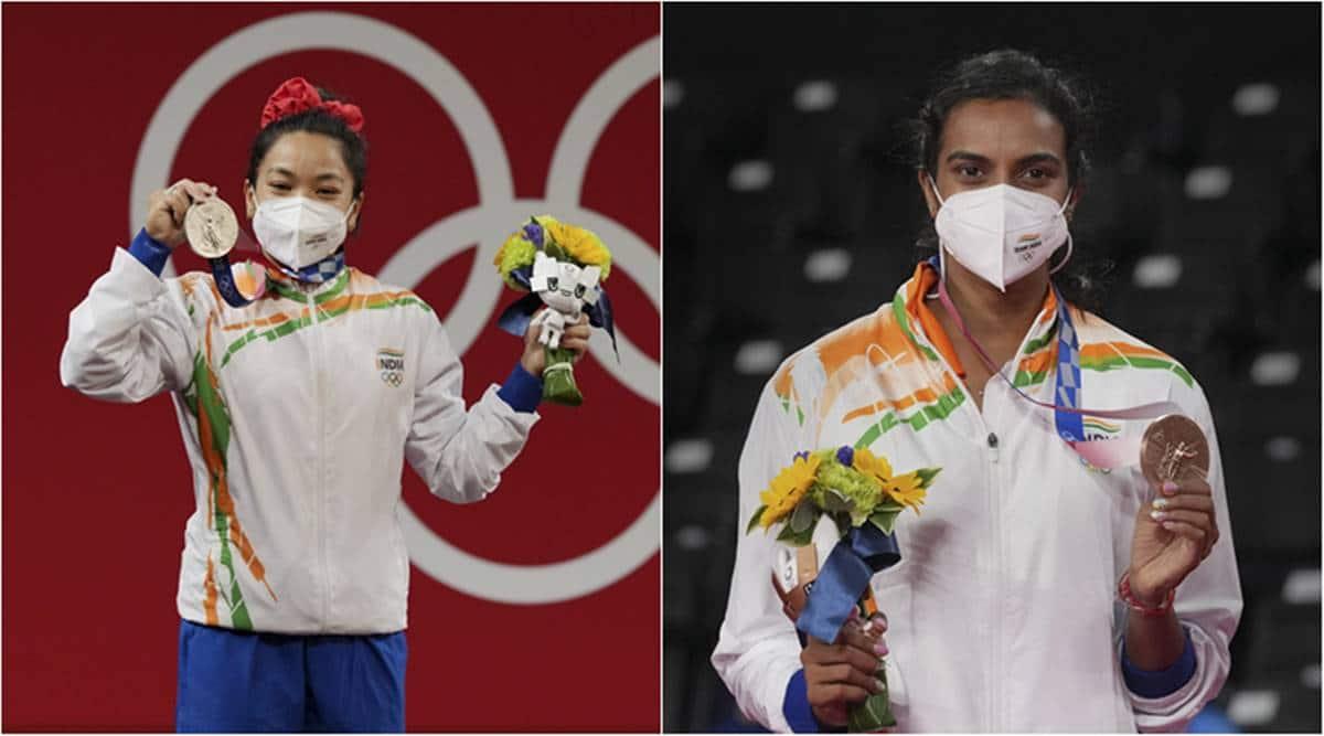 PV Sindhu, Mirabai Chanu, PV Sindhu tokyo olympics bronze medal, Mirabai Chanu silver medal, India women tokyo olympics, india women rio olympics
