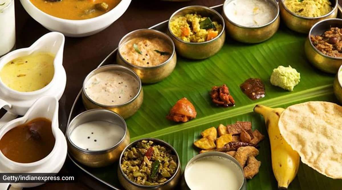 rahul gandhi onam sadhya, onam sadhya varieties, what does onam sadhya have, indianexpress.com, indianexpress, onam sadhya dishes, kerala onam sadhya,