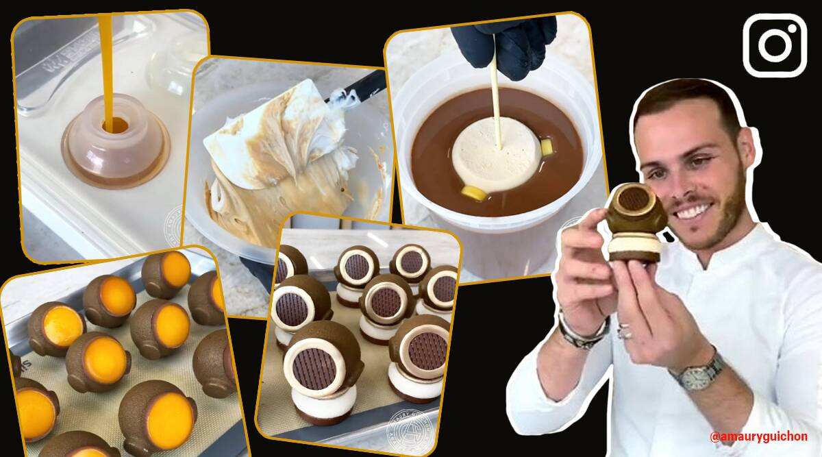 Amaury Guichon, Amaury Guichon, The Diving Helmet!, Pastry chef chocolate creation viral video, trending, indian express, indian express news