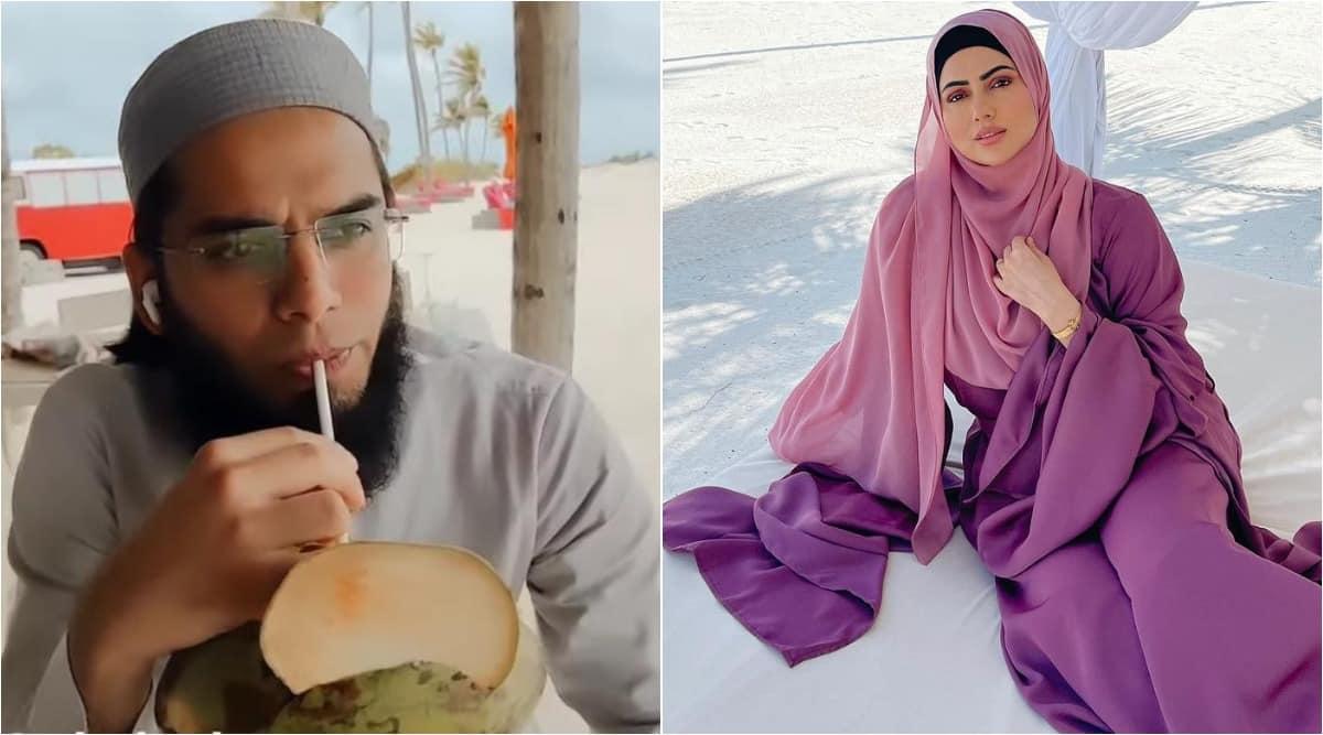 sana khan, maldives photos