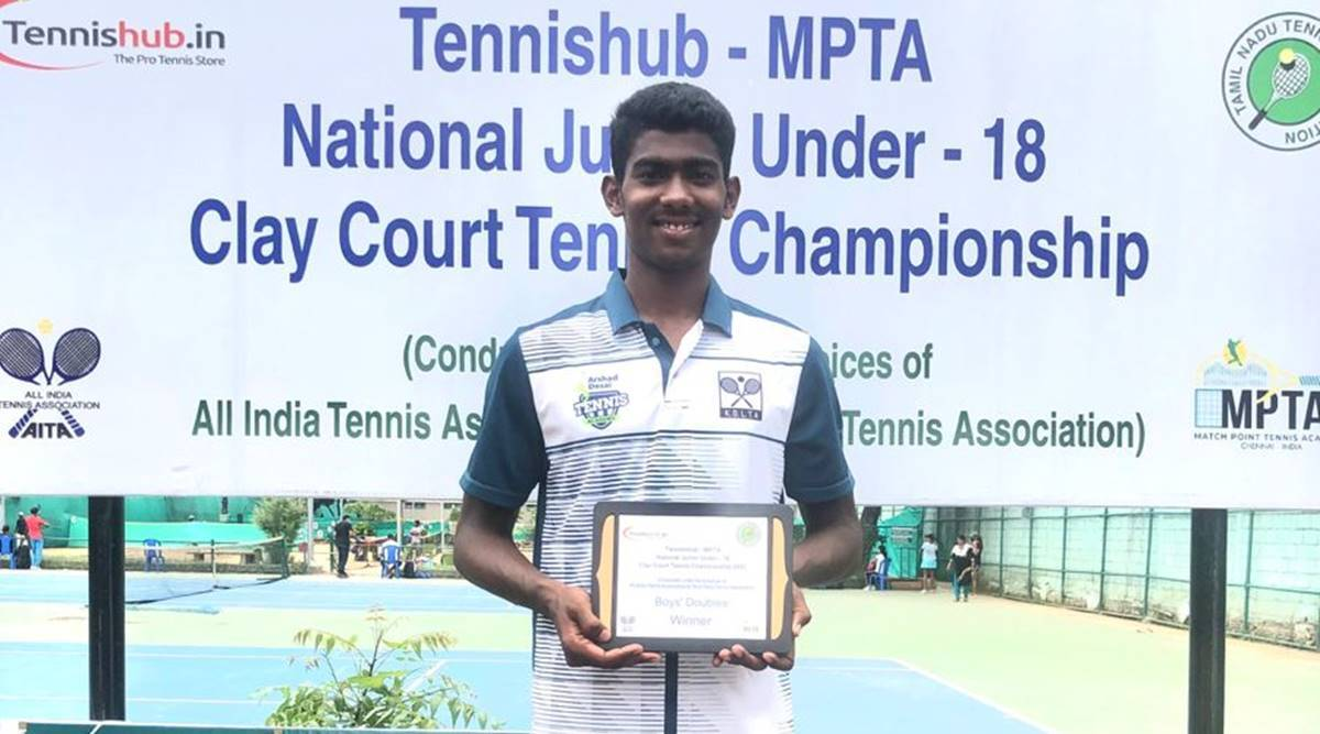 Another feat for Kolhapur's Big Server Sandesh Kurale, clinches doubles trophy at U-18 championship