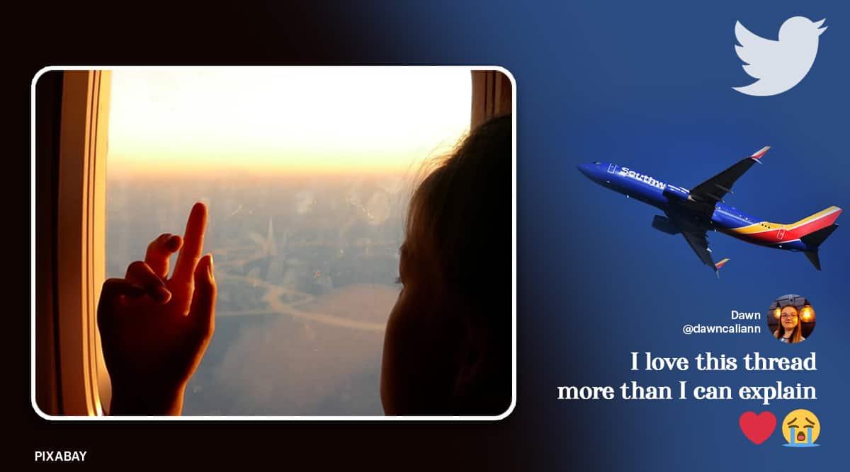 air travel, flight passenger conversation, in flight conversation with strangers, southwest airline travelling stories, viral news, indian express