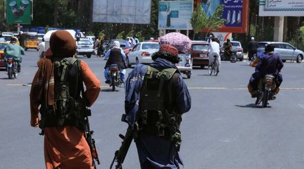 Taliban patrolling in the streets of Herat, Afghanistan