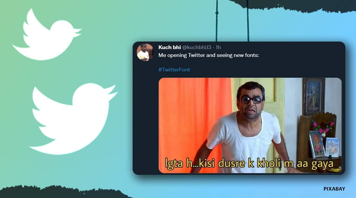 twitter, twitter new font, twitter deisgn update, twitter new design, twitter chirp font, twitter font memes, tech news, viral news, indian express