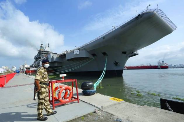 india aircraft carrier, india aircraft carrier, india aircraft carrier sea trials, kochi, ins vikrant, indian navy, indian express news