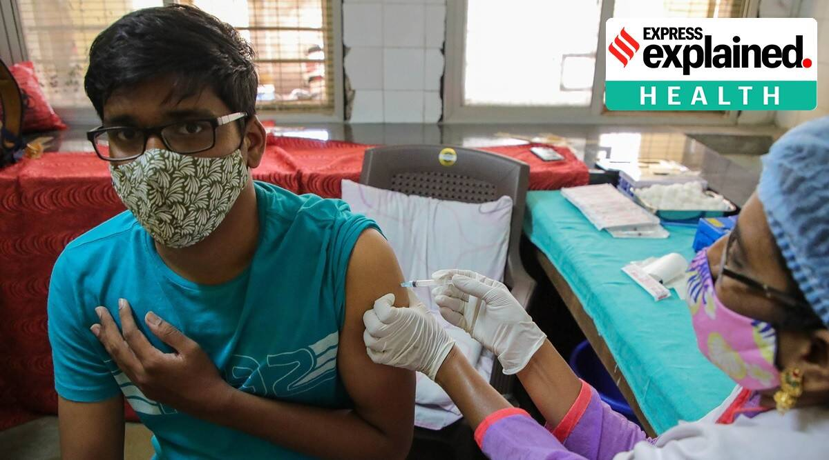 kings college london, Covid-19, covid-19 vaccination, second dose of vaccine, first dose of vaccine, covid-19 symptoms, indian express, express explained, current affairs