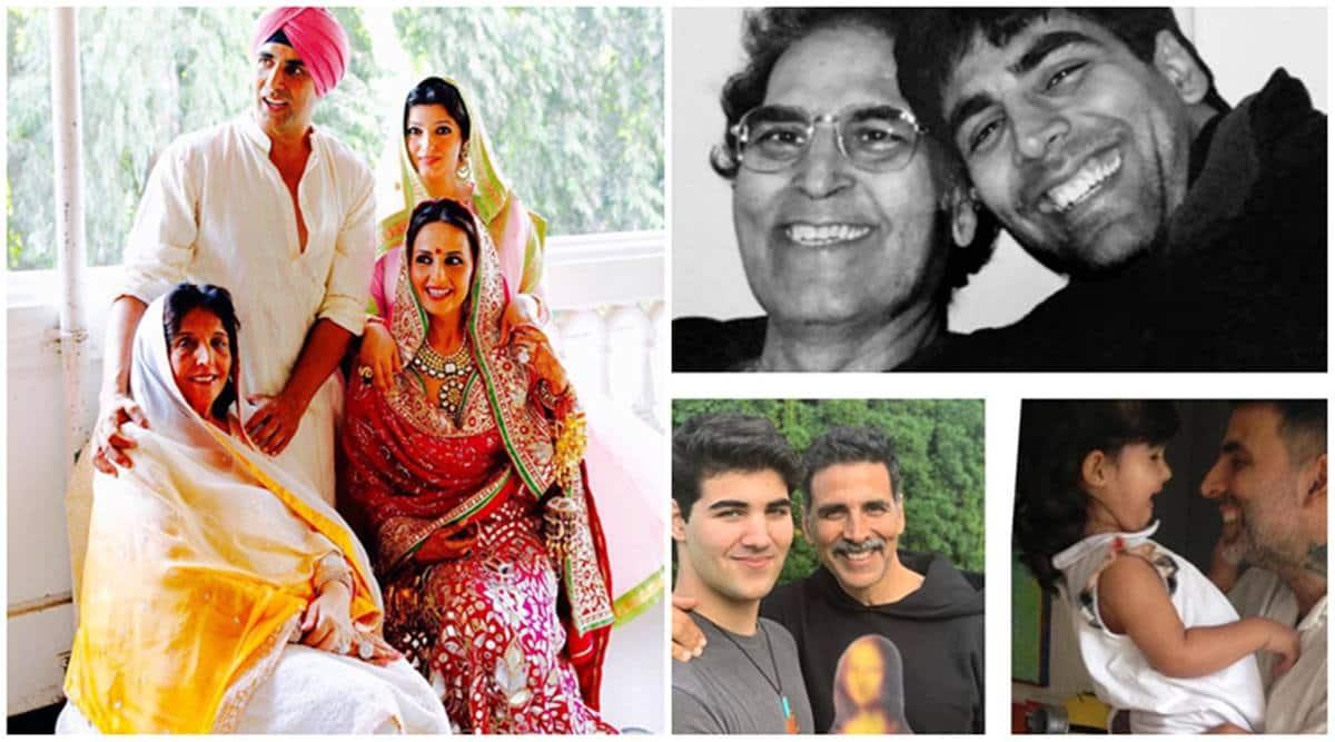 Akshay Kumar birthday, family man photos mother dad and kids