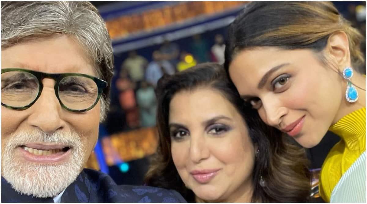 Amitabh Bachchan- Farah Khan0 Deepika Padukone- KBC13