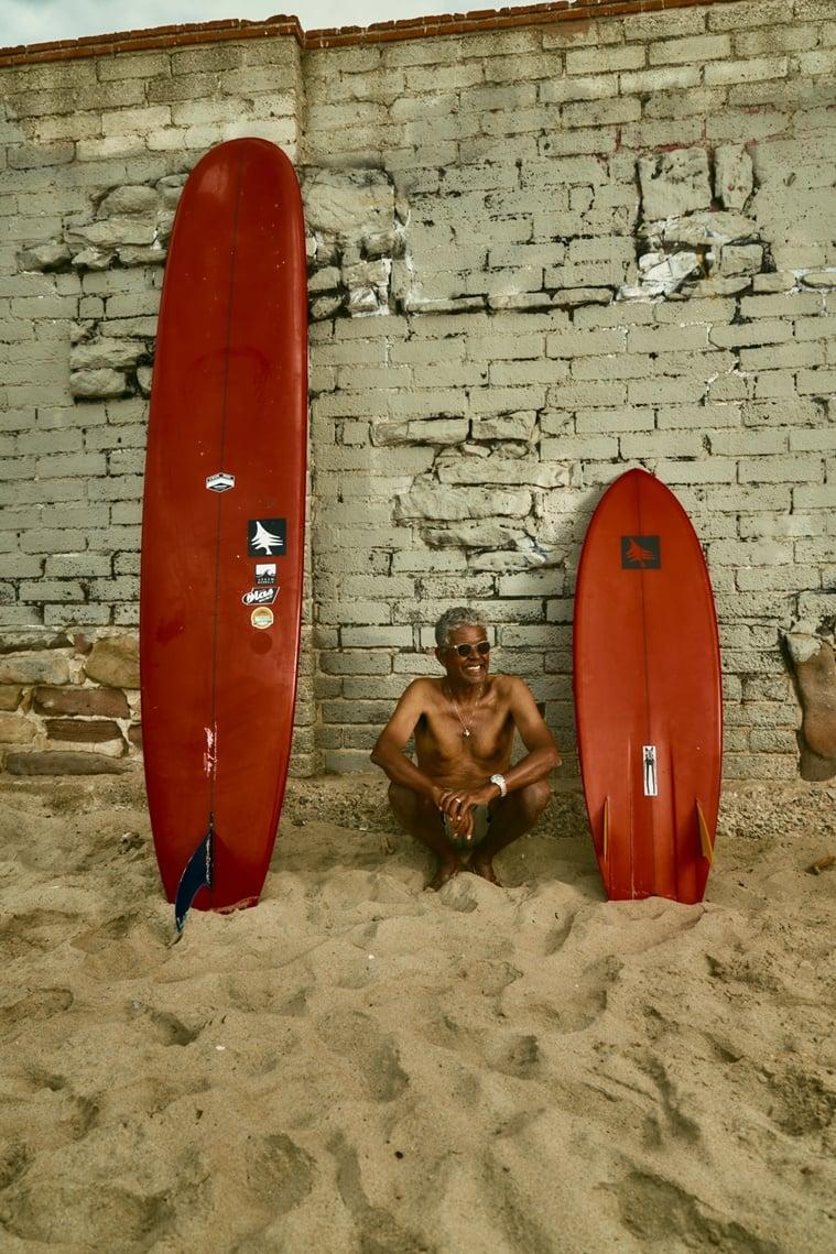 black surfer