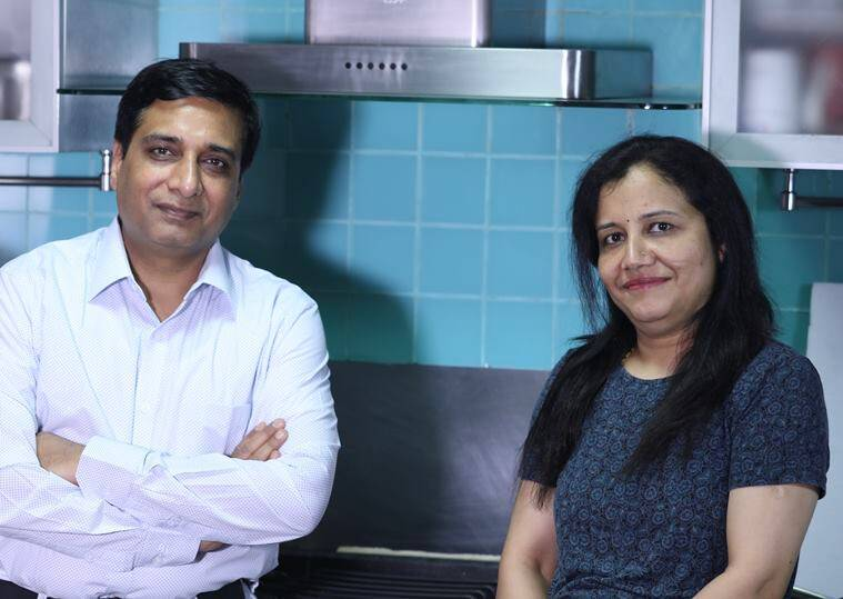 Covid-19 pandemic, cooking at home, healthy eating at home, Tinychef, smart culinary assistant Tinychef, tech support in kitchens, Indian kitchens, Indian cooking, pandemic cooking, AI-integrated app for cooking, Tinychef app, Tinychef in India, chef Sanjeev Kapoor, Bahubali Shete, Asha Shete, indian express news