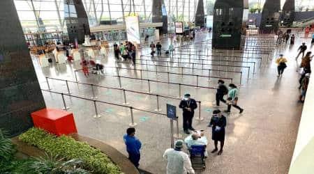 Bengaluru airport, Bengaluru airport's Terminal II, Bengaluru airport construction, Covid-19, Pandemic delays construction of Bengaluru airport, bengaluru news, Indian express