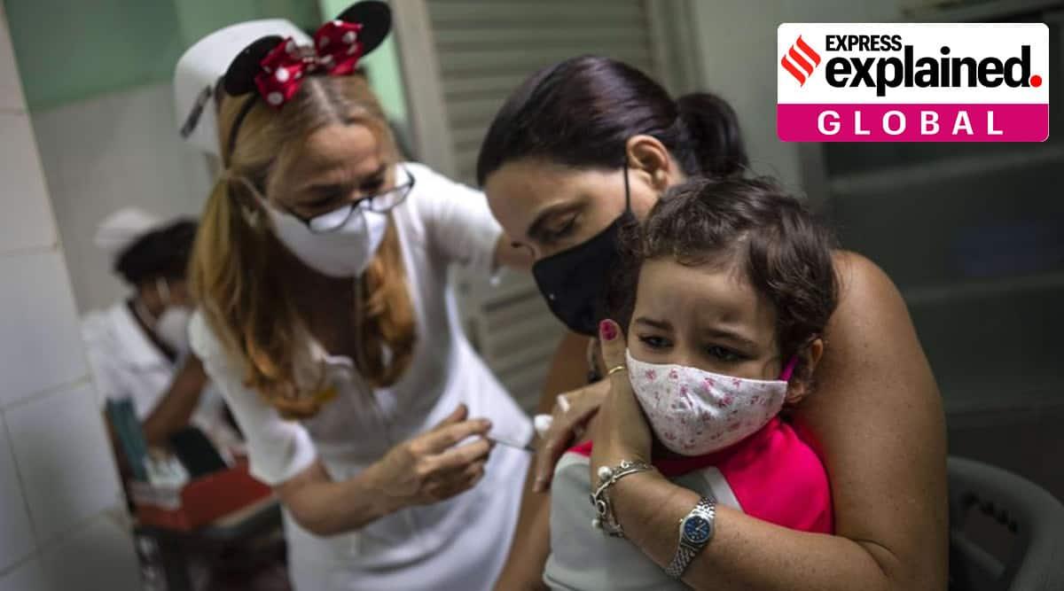 Cuba, Covid-19, Cuba Covid-19, Cuba vaccinating children, Cuba covid vaccination, Indian express, indian express news, World news, Covid vaccination for kids