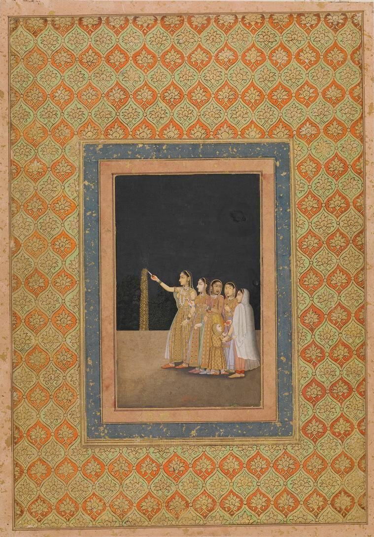 Bagh-e-Hind, virtual exhibition Bagh-e-Hind, Mughal and Rajput miniatures, scents and smells, perfumes, paintings, eye 2021, sunday eye, indian express news
