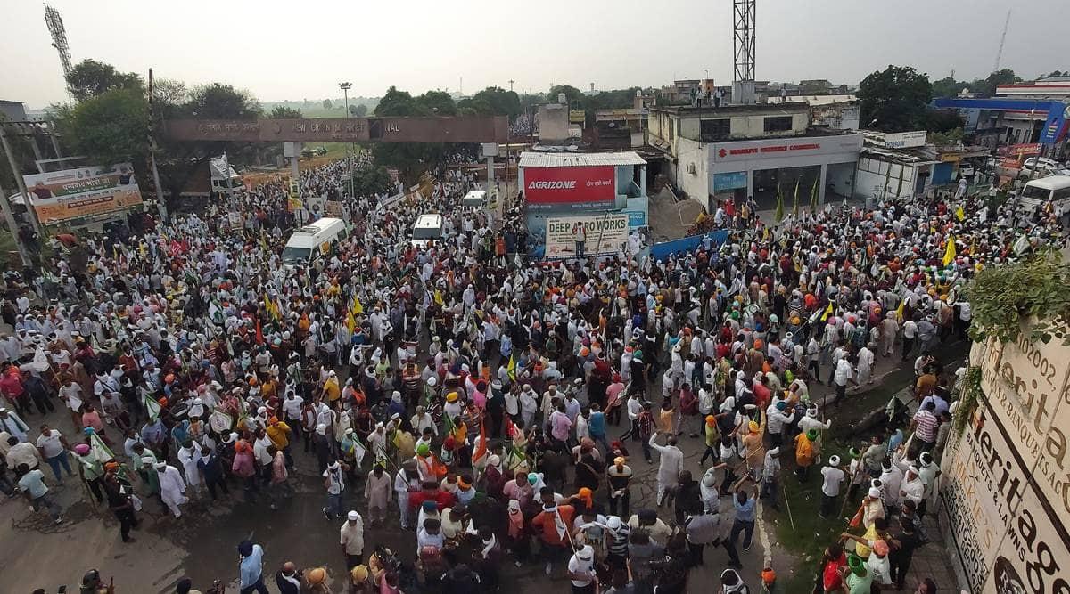 BKS, Farmers protest, MSP, Kisan Mahapanchayat, UP farmers, Muzaffarnagar, India news, Indian express
